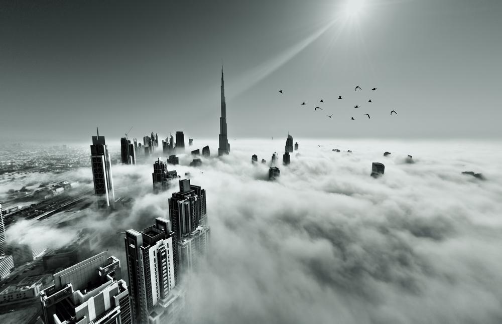 El edificio más alto del mundo desde 2009, El Burj Khalifa en Dubai